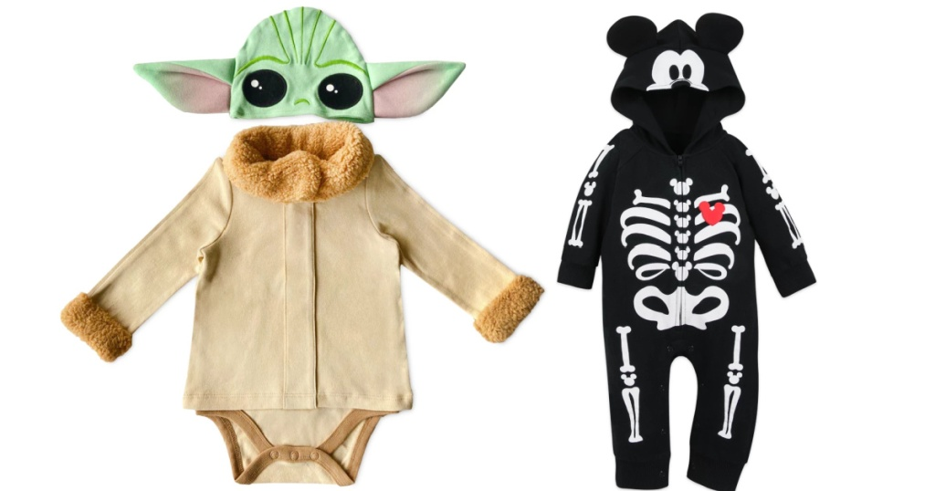 star wars the child costume and mickey mouse skeleton romper
