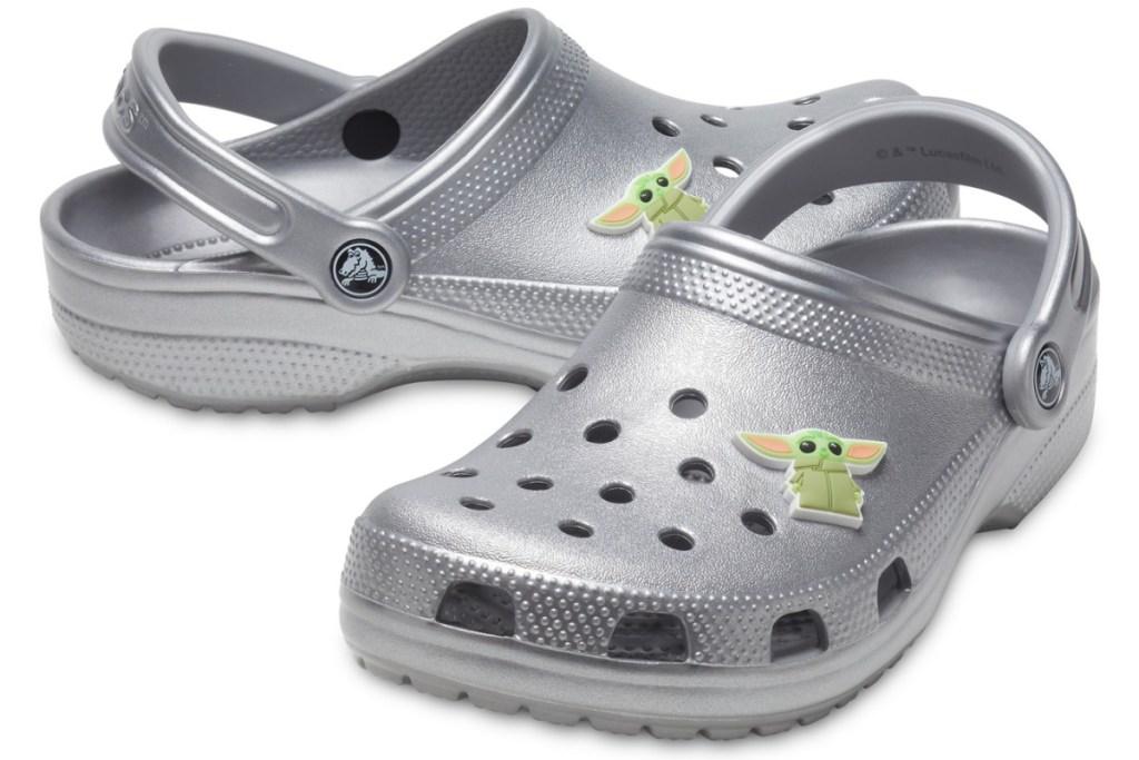 pair of star wars the child crocs