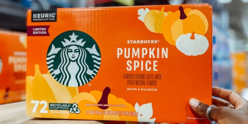 Starbucks Pumpkin Spice Coffee 72-Count K-Cups Only $29.98 on Sam's Club | Just 42¢ Each
