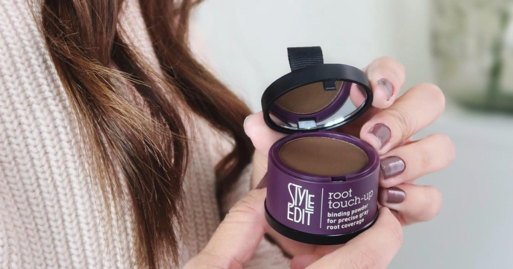 style edit root touch up in hand