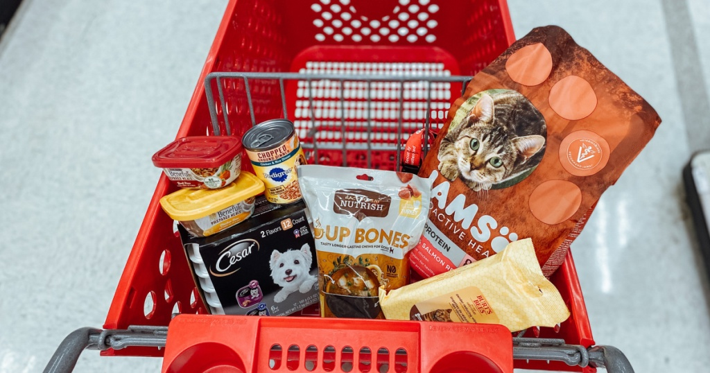 target pet purchase in cart