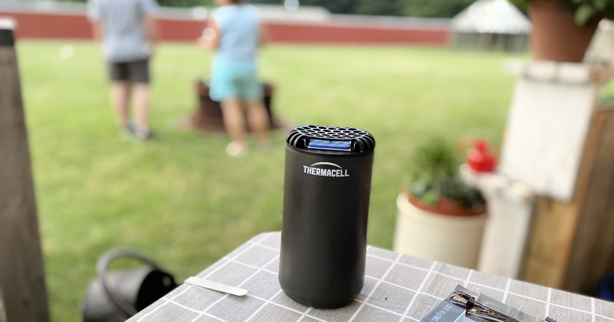 themacell mosquito repeller on a table