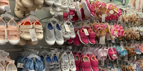 Buy One, Get One 50% Off Kids Shoes at Target | Sandals from $2.99, Sneakers $7.49 Each, & More