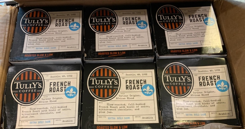 Tully's French Roast coffee packs