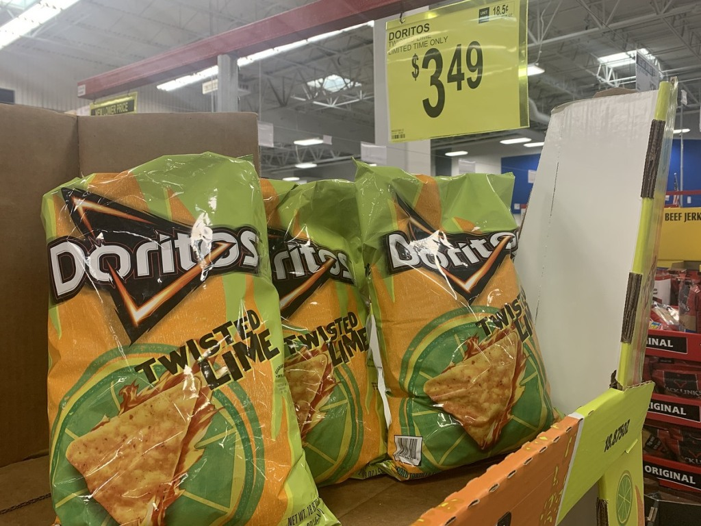 bags of Twisted Lime Doritos at Sam's Club