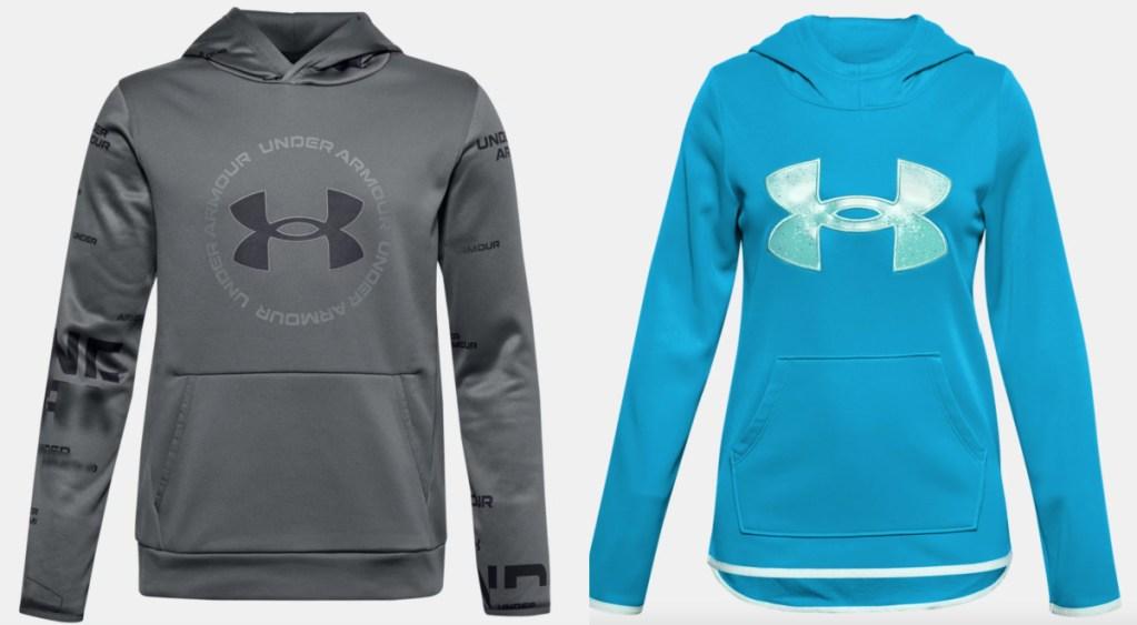 2 under armour boy: girl hoodie