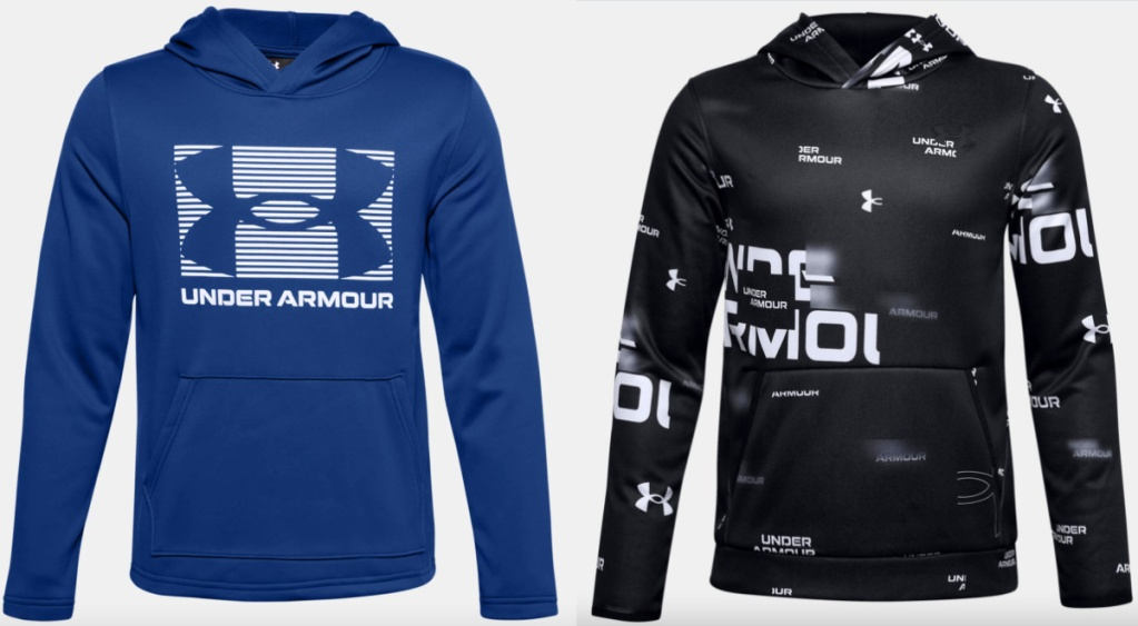 2 under armour boys hoodies