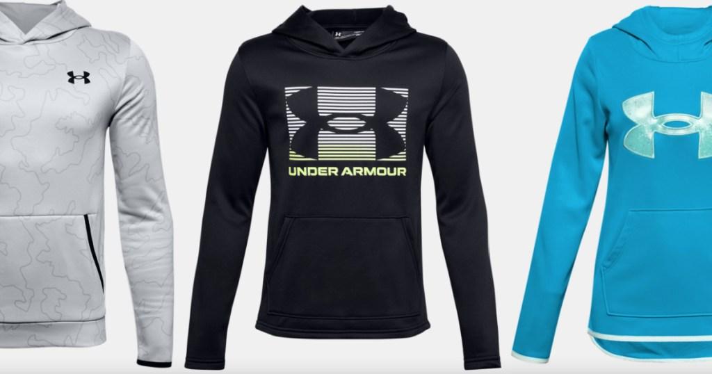 3 under armour kids hoodies