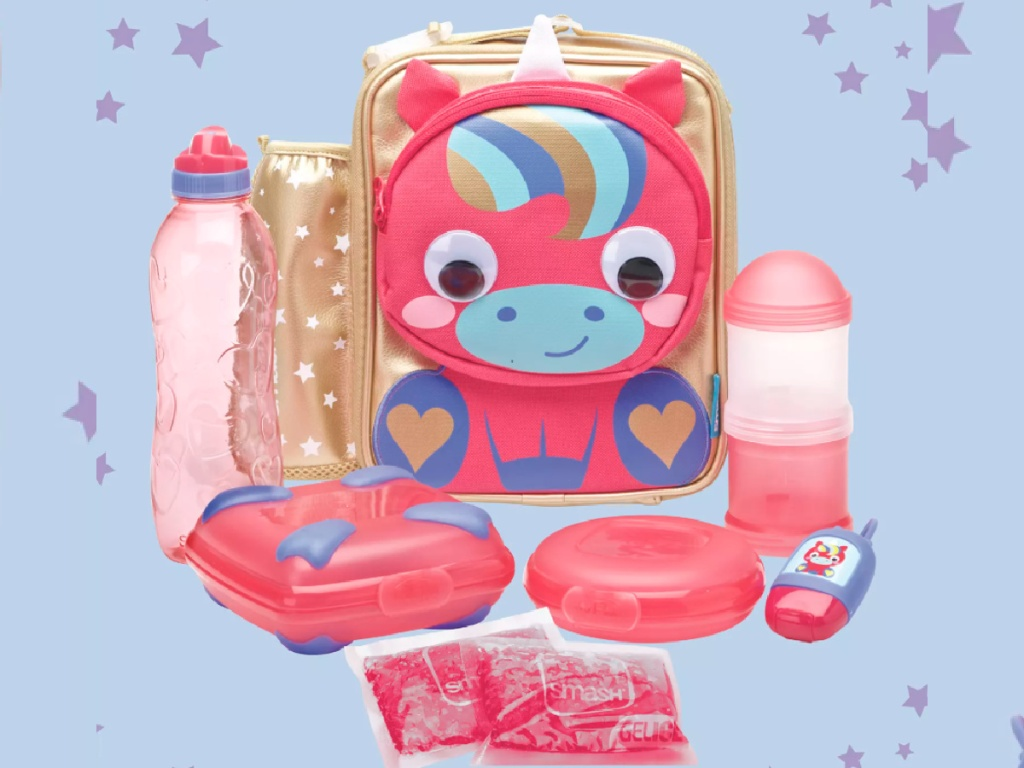 unicorn backpack and lunch set