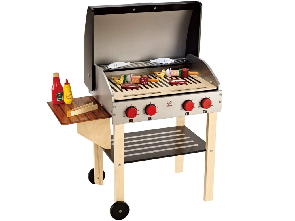 hape wooden gourmet grill for kids