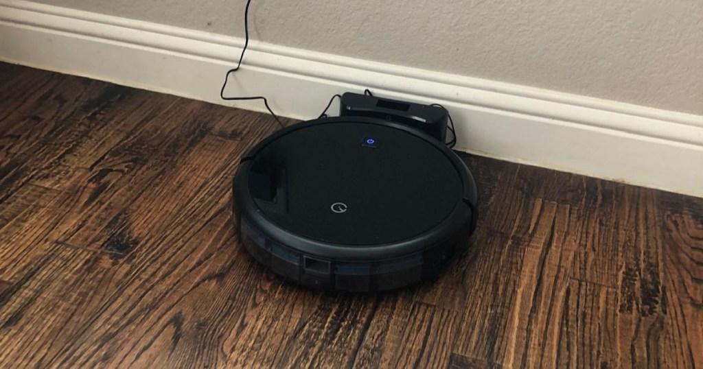 yeedi robot vacuum plugged
