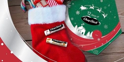 ChapStick Advent Calendar Only $18   Includes 12 Seasonal & Classic Flavors