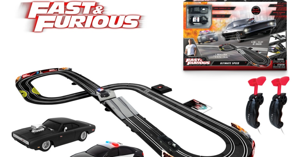 2 Fast 2 Furious Dodge Charger R/T 1970 Ultimate Speed Raceway 1:43 Scale Slot Car set
