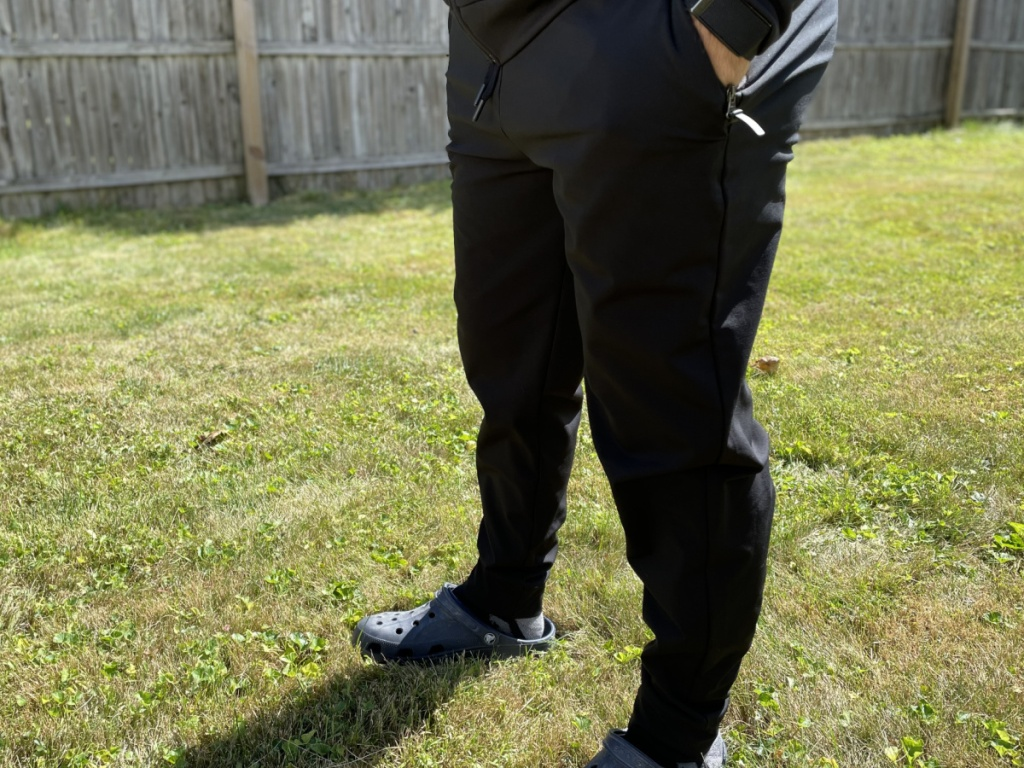 man wearing 32 degrees joggers