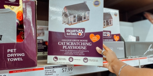Heart to Tail Cat Scratching Playhouses Only $7.99 at ALDI