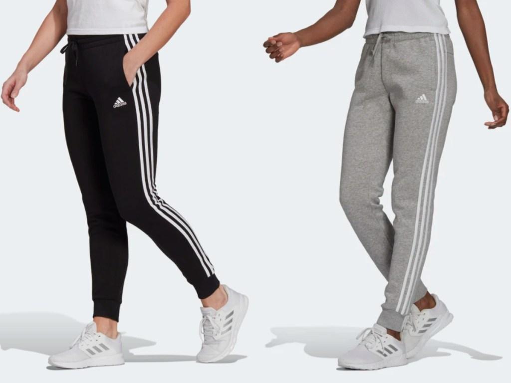 women wearing adidas pants