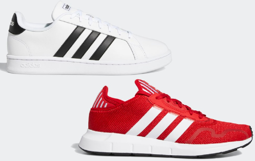 Adidas Grand Court Shoes and Adidas Swift Run X Shoes