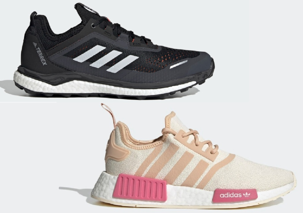 Adidas Men's Terrex Agravic Flow Shoes and Adidas Women's NMD_R1 Shoes