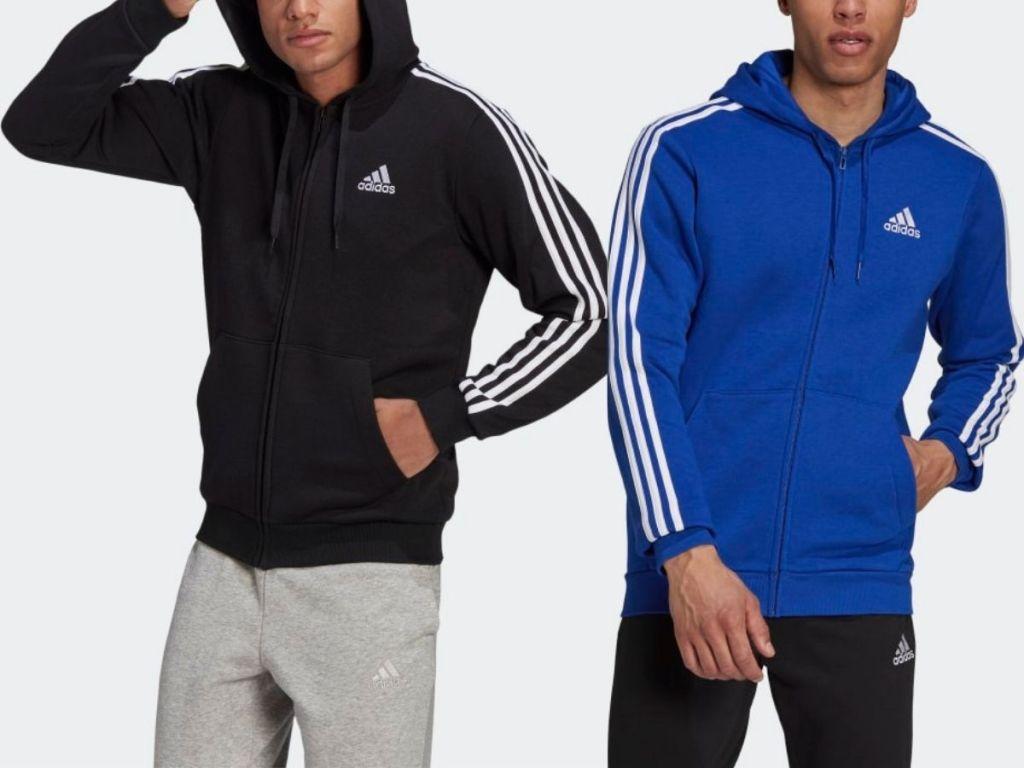 two men wearing Adidas Sweatshirts