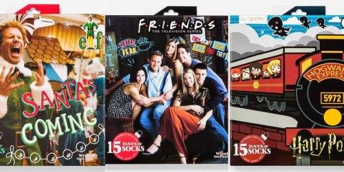 15 Days of Socks Advent Calendars Only $15 on Target.com | Friends, Elf, Harry Potter & More