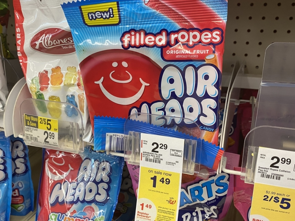 airheads ropes in store with price info
