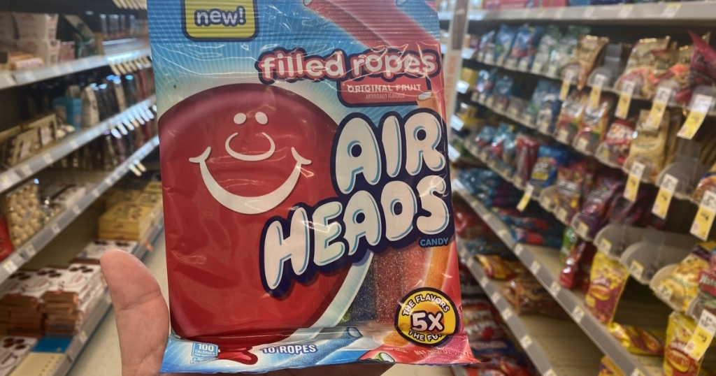 hand holding airheads ropes in store