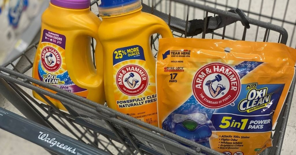 Arm & Hammer Laundry in a Walgreens cart