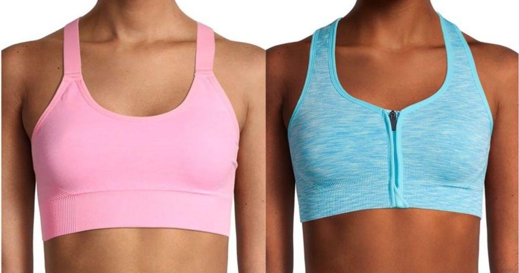 two women wearing sports bras