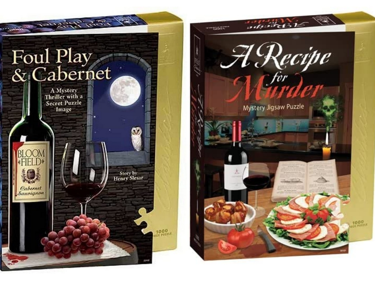 bepuzzled foul play & cabernet and a recipe for murder puzzles