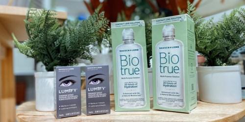2 FREE Biotrue Contact Lens Solution 10oz Bottles After Target Gift Card