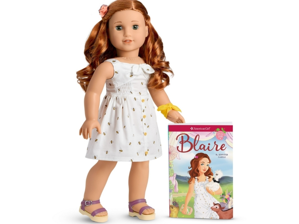 blaire american girl doll with book