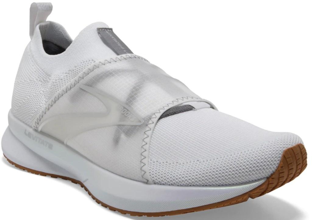 white slip on brooks levitate running shoes
