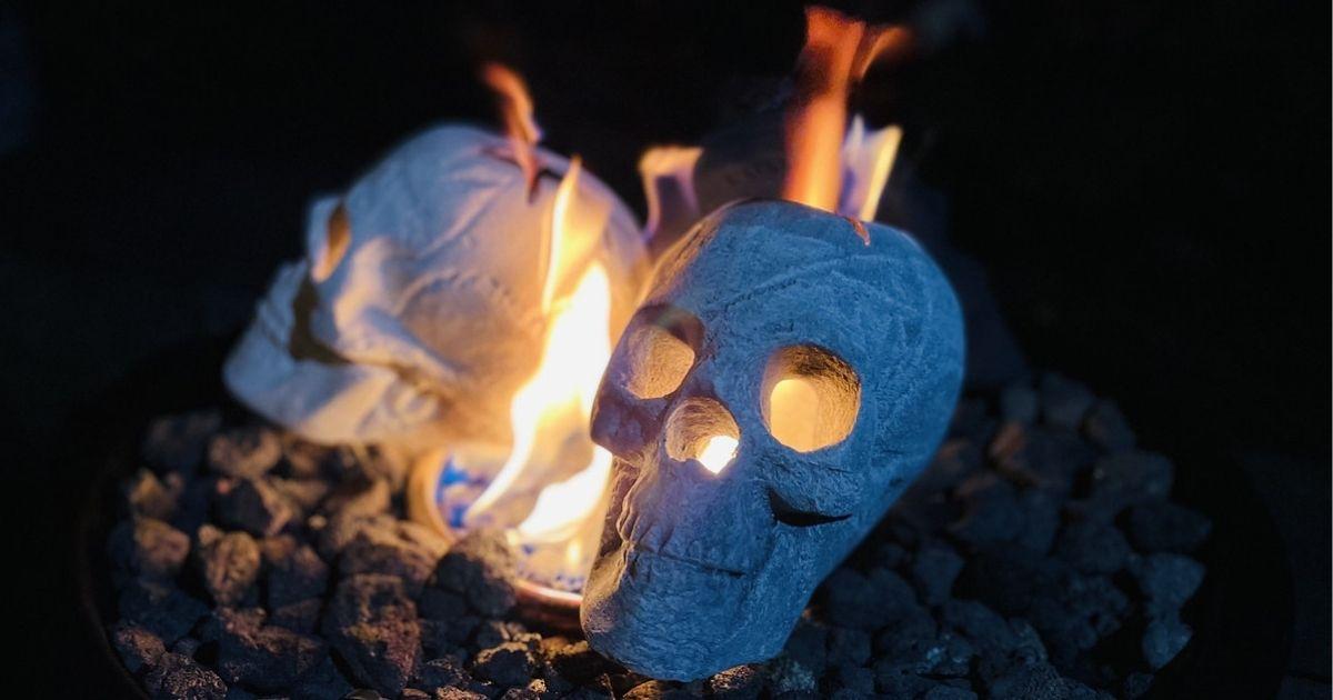 Ceramic Fire Skulls