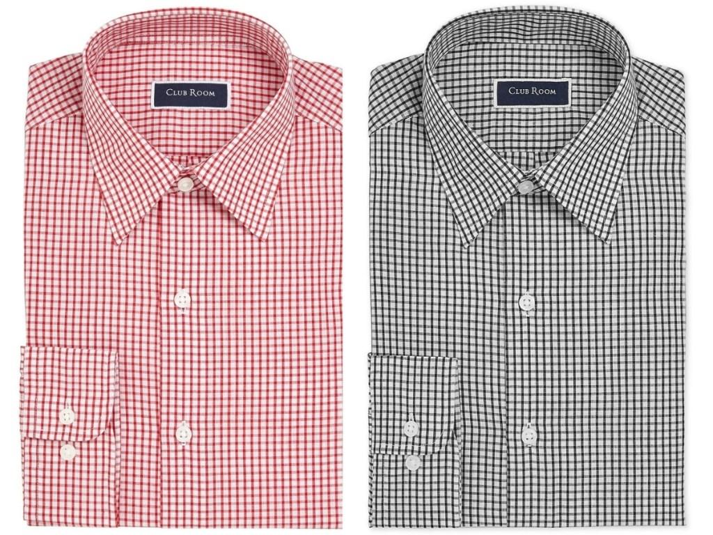 Club Room Men's Classic/Regular-Fit Check Dress Shirt