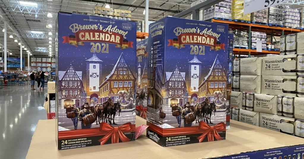 costco brewer's advent calendars on shelf