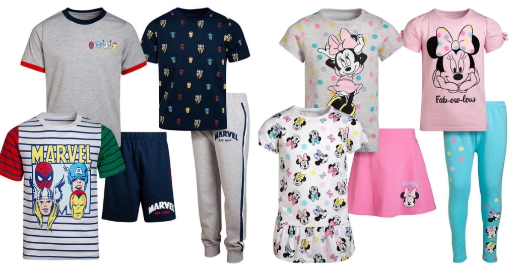 costco kids clothing sets avengers and minnie mouse