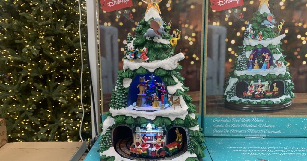 Disney themed musical christmas tree