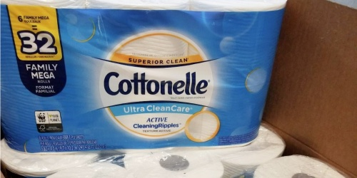 Cottonelle Toilet Paper 24-Count Family Mega Rolls Only $23.92 Shipped on Amazon