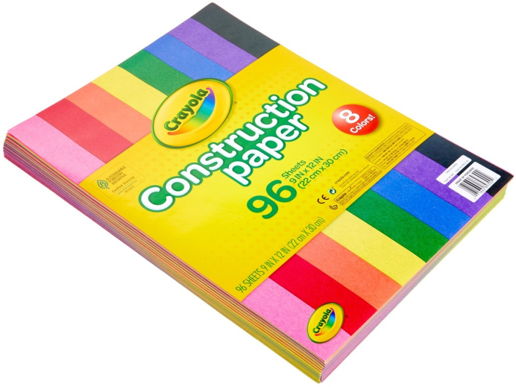 Crayola Construction Paper 96-Count in Assorted Colors