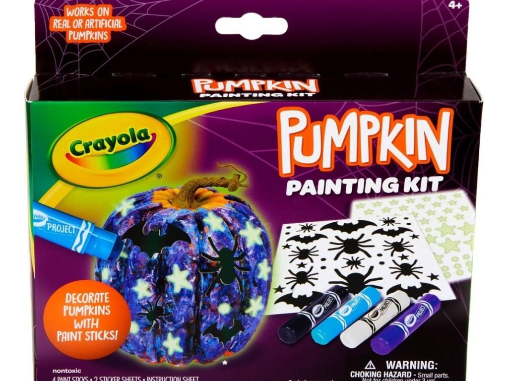 crayola pumpkin painting kit galaxy themed