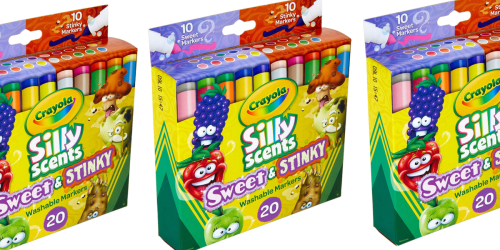 Crayola Silly Scents Washable Markers 20-Count Only $4.50 on Amazon (Regularly $10)