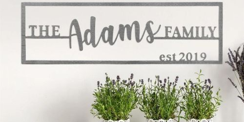 Custom Family Name Plaque Only $22.99 Shipped