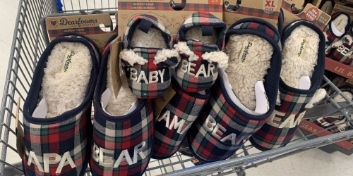 Dearfoams Matching Family Slippers Only $9.98 at Walmart
