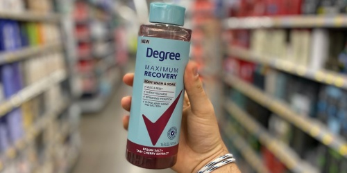 $2/1 Degree Maximum Recovery Coupon = Body Wash & Soak Just $1.47 After Cash Back at Walmart