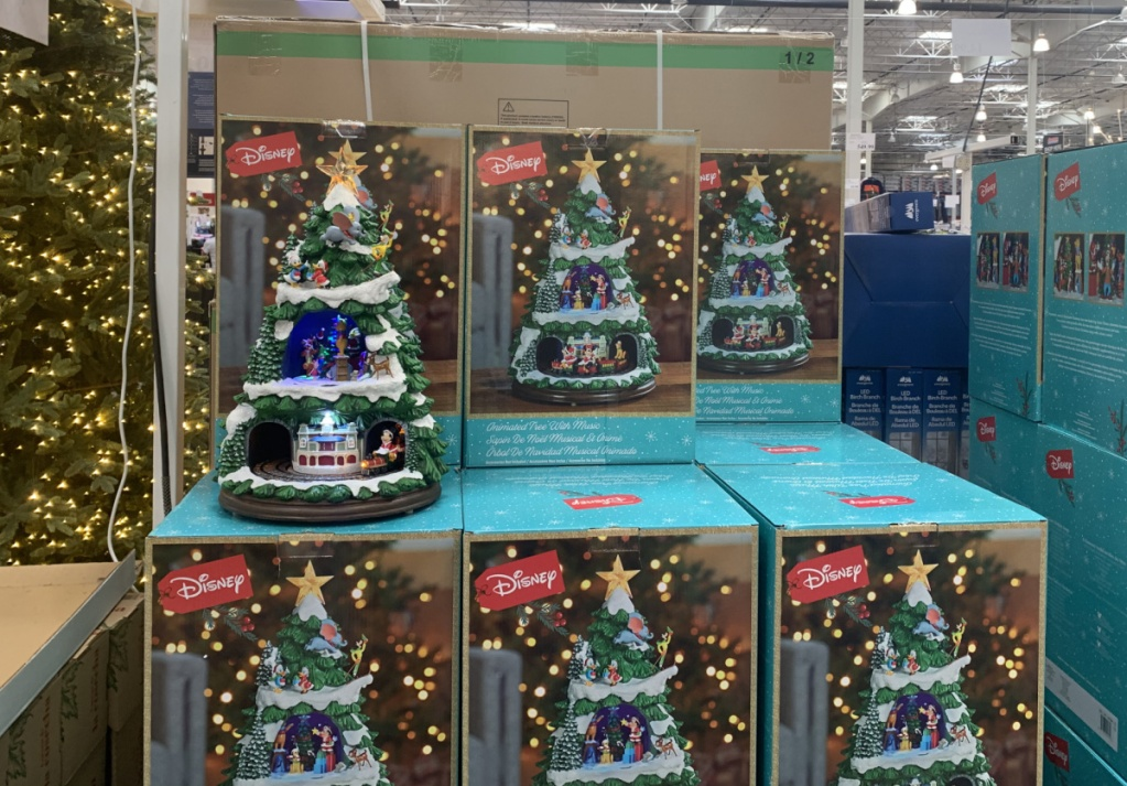 Disney themed Christmas tree on display in-store