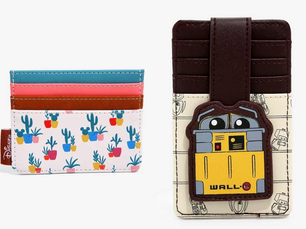 cactus and succulent mickey mouse cardholder and wall-e sketches cardholder disney