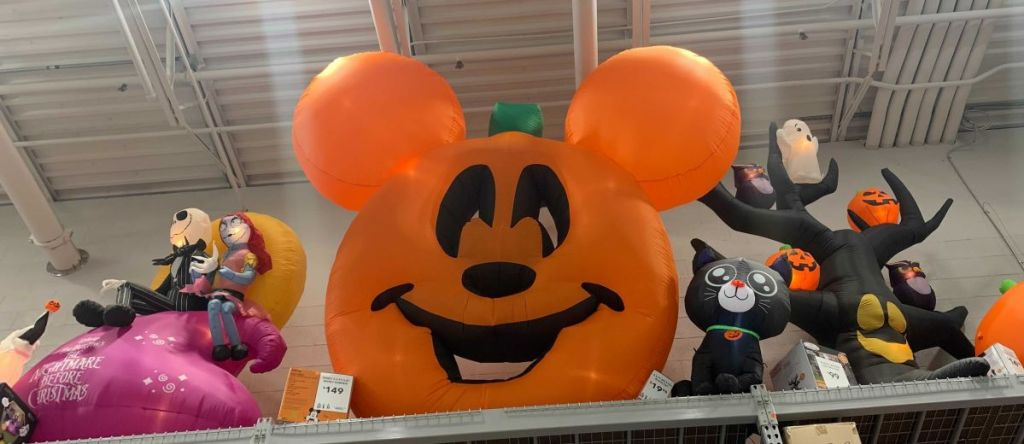 inflatable Mickey Mouse halloween pumpkin