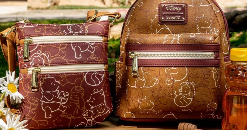 disney winnie the pooh art line sketch mini backpack and crossbody with honey