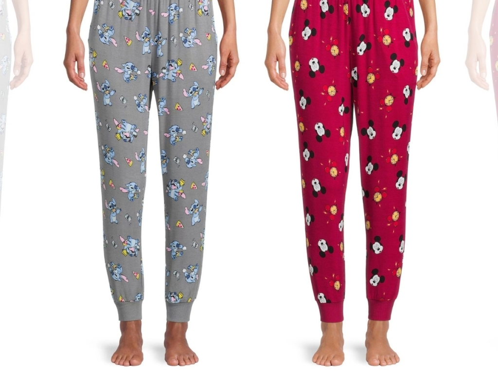 Disney Women's Mickey & Stitch Sleep Joggers