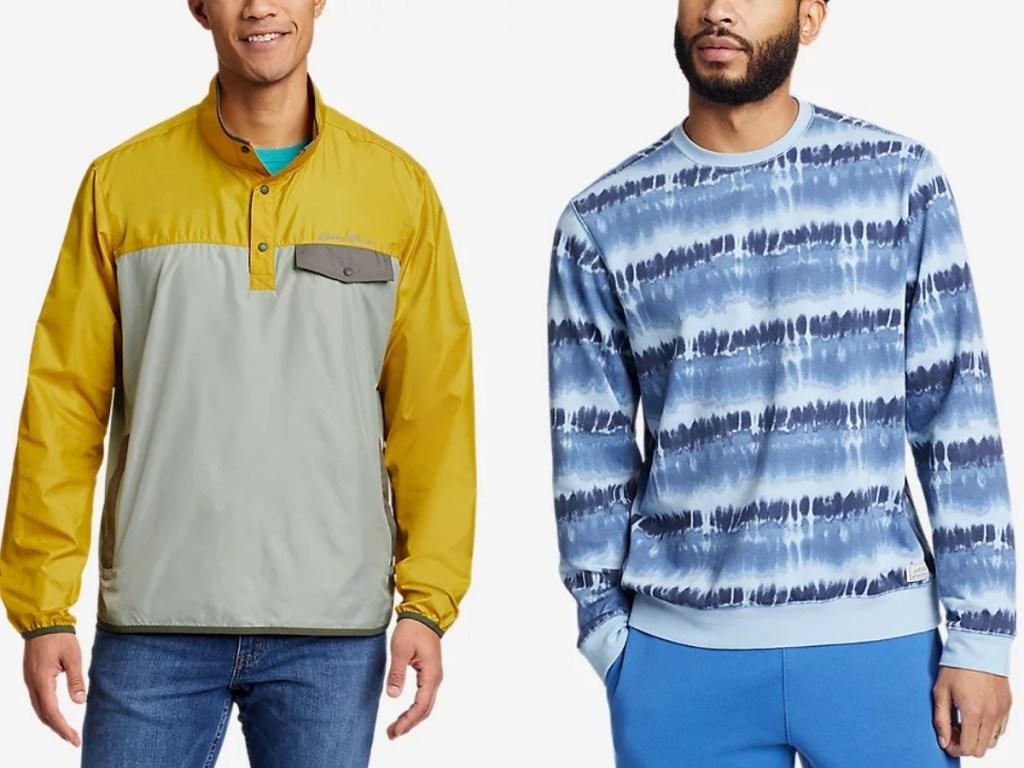 eddie bauer men's outerwear jacket and fleece sweatshirt